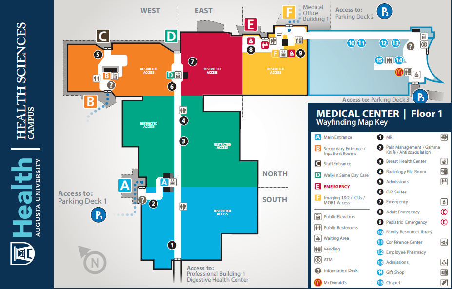 Wayfinding Maps for Medical Center